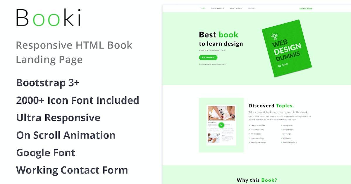 Booki - Responsive HTML Book Landing Page by bestpixels