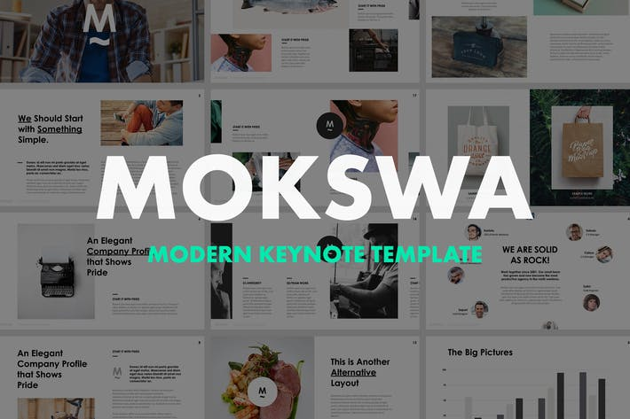 Thumbnail for Mokswa - Agency Keynote Template