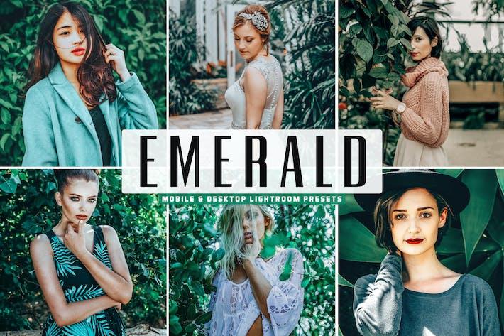 Thumbnail for Emerald Mobile & Desktop Lightroom Presets