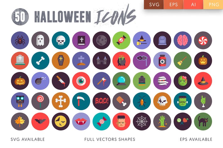 Cover Image For 50 Halloween Icons