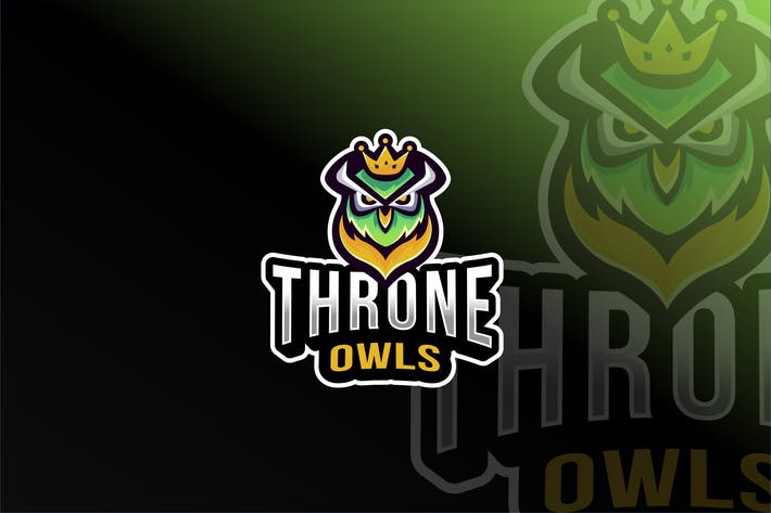Thumbnail for Throne Owls Esport Logo Template