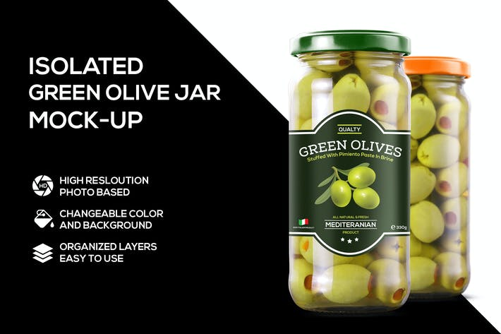 Thumbnail for Glass jar of olives