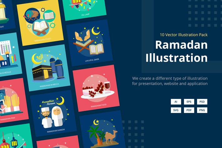 Thumbnail for Ramadan Mubarak Vector Illustration
