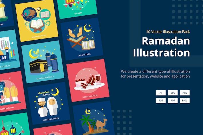 Thumbnail for Ramadan Mubarak Vektor illustration