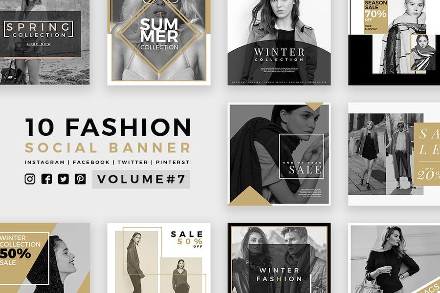 Модные социальные медиа баннеры - Kit 07