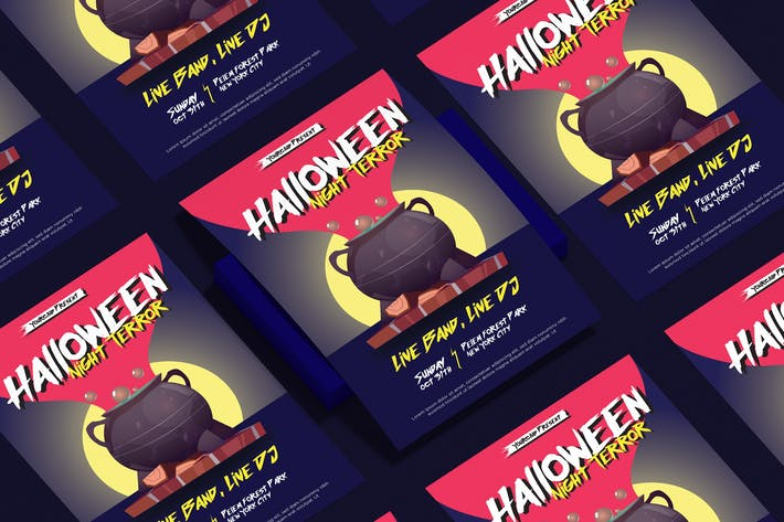 Thumbnail for Halloween Flyer Design Template Vol. 01