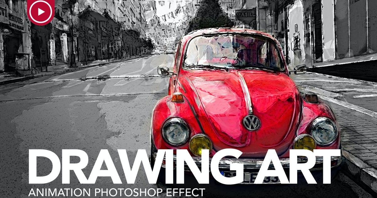 Download Drawing Art Animation Photoshop Action by sreda
