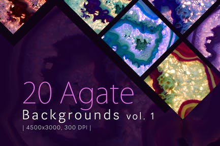 20 Agate Backgrounds vol. 1