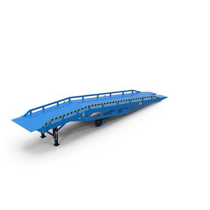 Mobile Loading Dock Ramp Blue