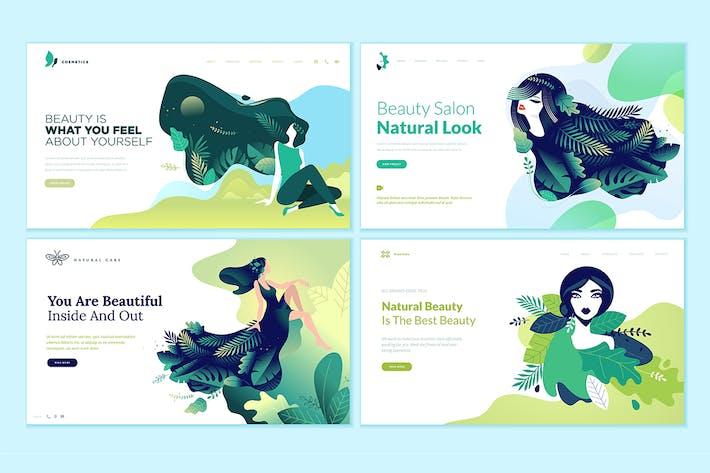 Thumbnail for Kit de Plantillas de Diseño de Página Web de Belleza