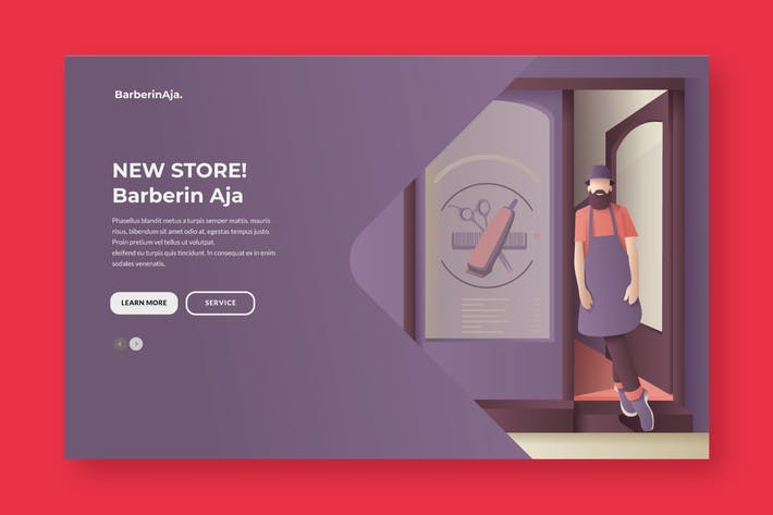 Cover Image For Babershop Banner & Landing Page
