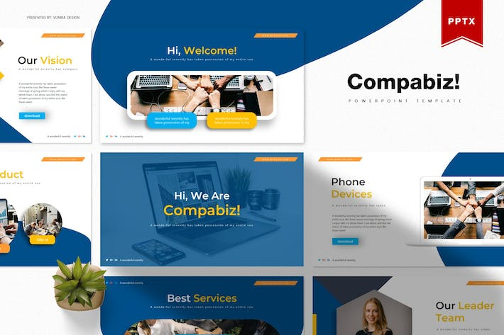 Thumbnail for Compabiz | Powerpoint Template
