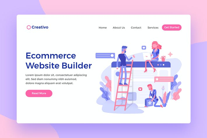 Thumbnail for Ecommerce Websites Builder Web Landing Page