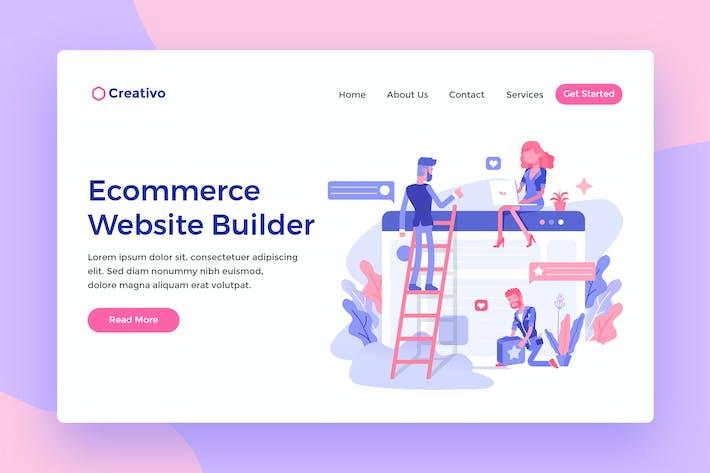 Cover Image For Ecommerce Websites Builder Web Landing Page