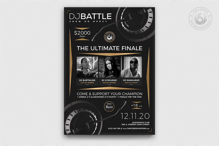 Thumbnail for DJ Battle Flyer Template V6