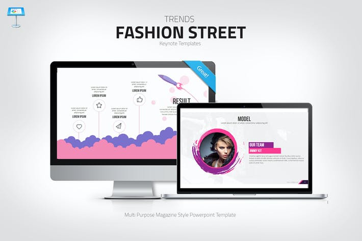 Thumbnail for Fashion Keynote template