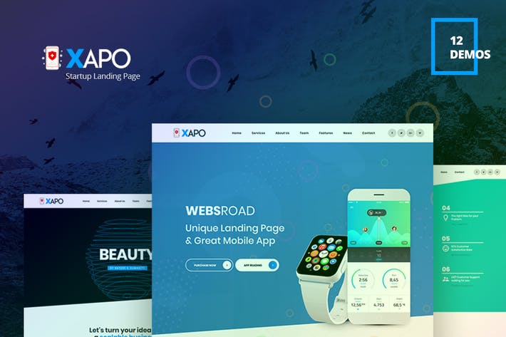 Thumbnail for Xapo - Responsive Landing Page Template