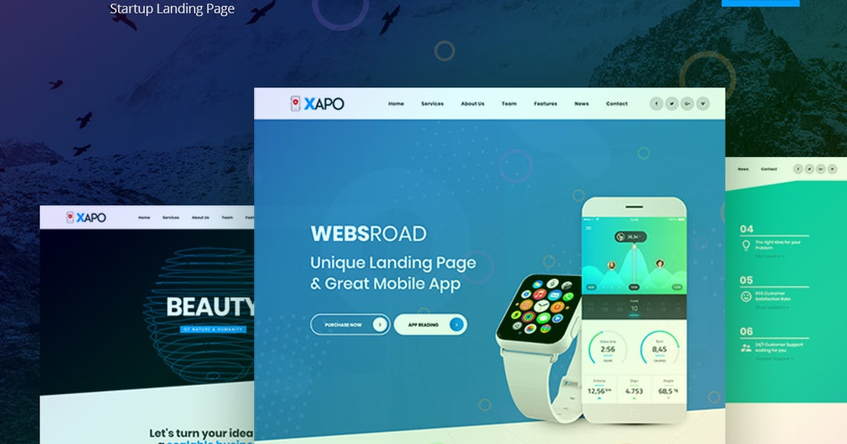 Download Xapo - Responsive Landing Page Template by websroad