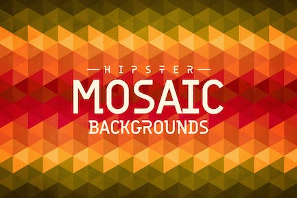 Hipster Mosaic Backgrounds