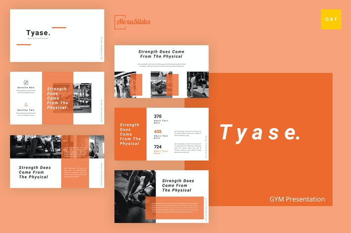 Thumbnail for Tyase - Gym Google Slides Template