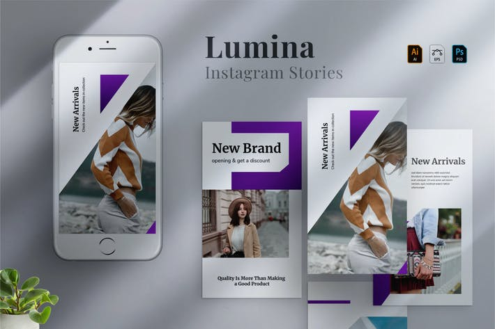 Thumbnail for Lumina - Instagram stories Template 04