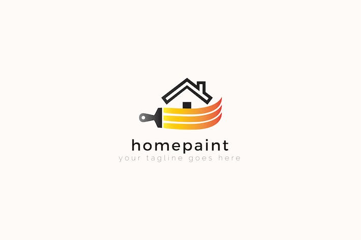 Thumbnail for Homepaint - House Painting Logo Template