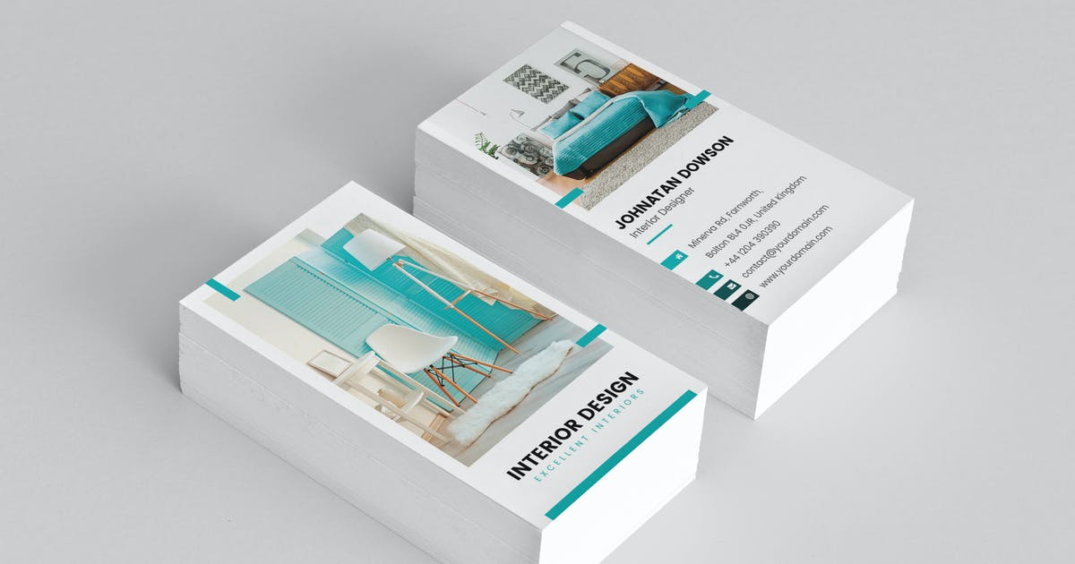 Business Card Interior Design Vertical By Artbart On Envato Elements