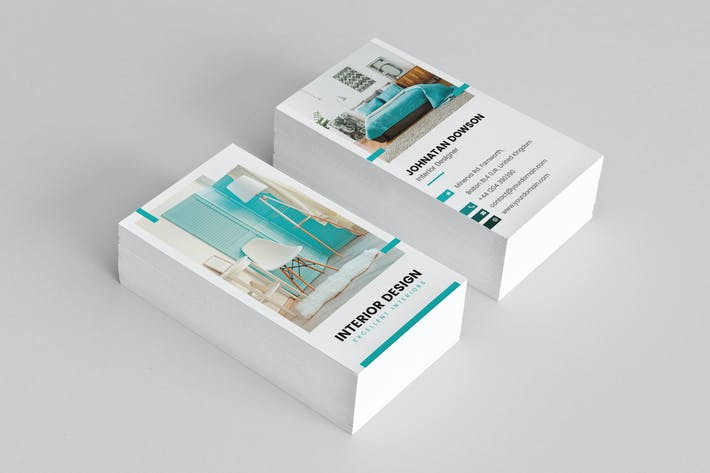 Thumbnail For Business Card Interior Design Vertical