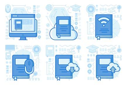 UX-Illustrationen für Ebook hochladen