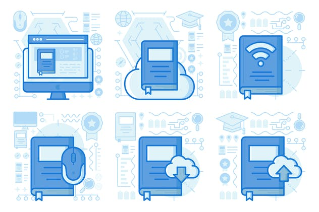 Upload Ebook UI UX Illustrations