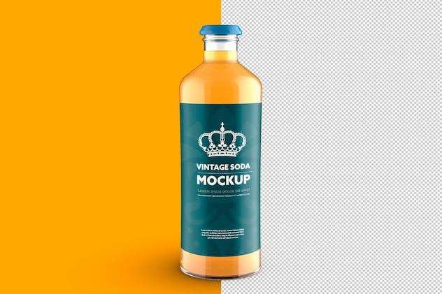 Vintage-Style Soda Bottle Colored Mockup