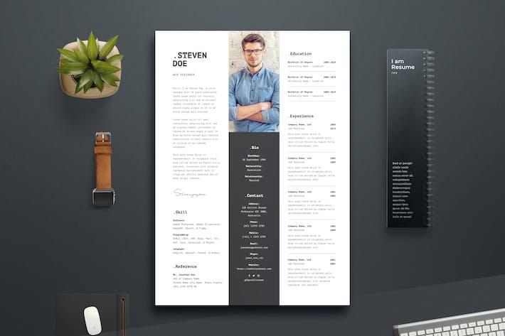 Thumbnail for Resume CV Template 07