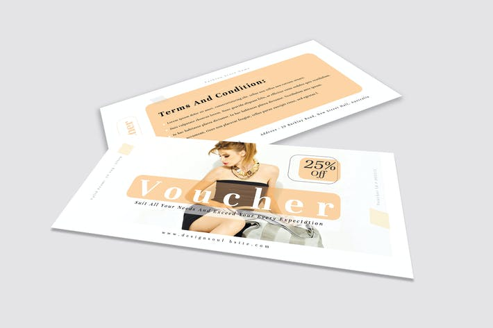 Thumbnail for Fashion Gift Voucher Template