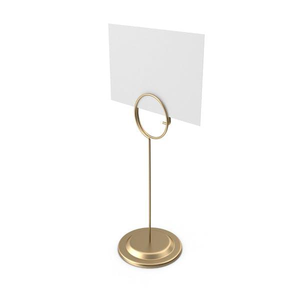Thumbnail for Soporte para rótulos con tarjeta blanca