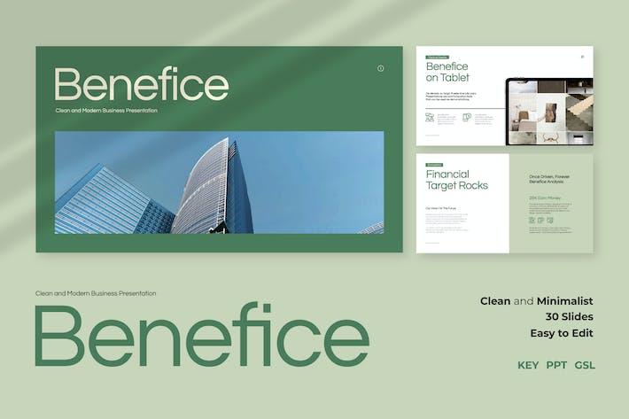 Benefice - Чистая и современная бизнес-презентация