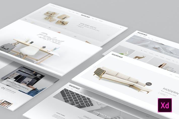 Thumbnail for Rubino - Minimal & Creative Adobe XD Template