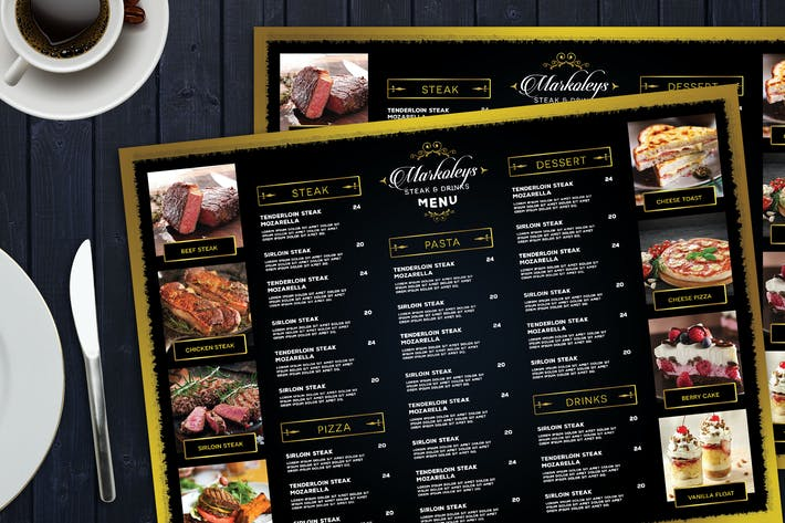 Thumbnail for Elegant Restaurant Menu Board
