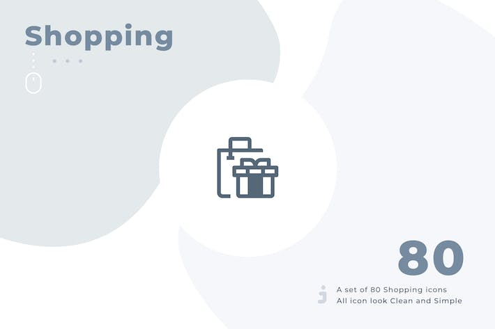 Thumbnail for 80 Shopping icon set - Material