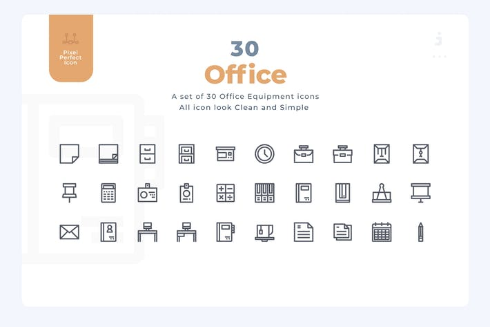 Thumbnail for 30 Office Equipment Icons - Material Icon
