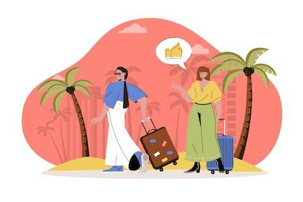 Summer Vacation Web Concept