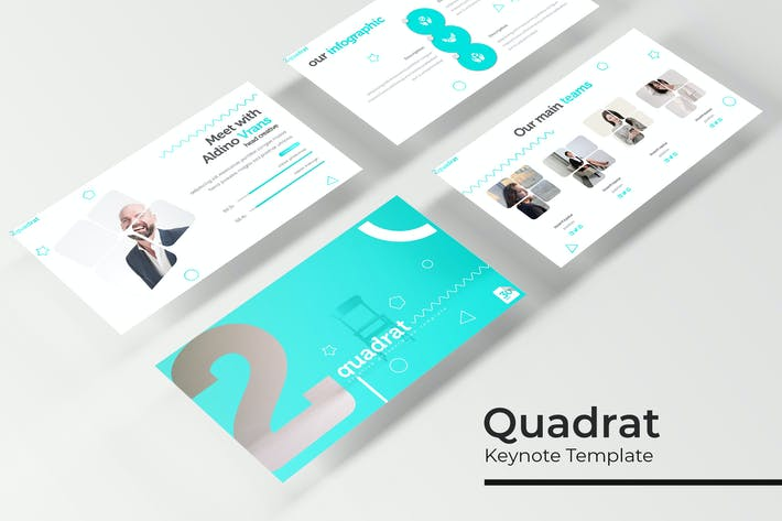Thumbnail for Quadrat - Plantilla de Keynote