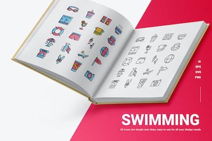 Swimming - Icons