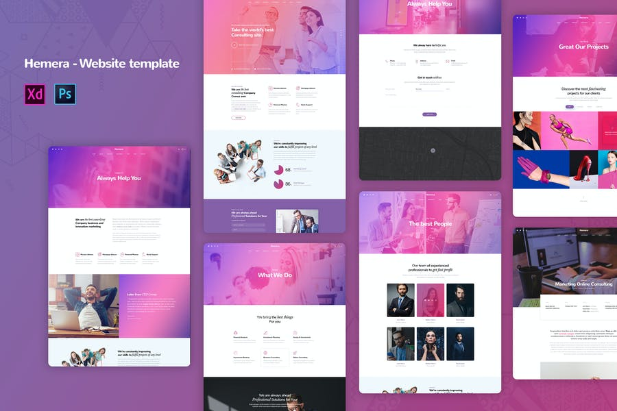 Hemera - Creative agency Website Templates