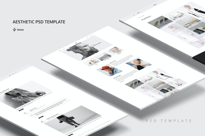 aesthetic psd template by torbara on envato elements