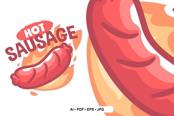 Hot Sausage Cartoon logo
