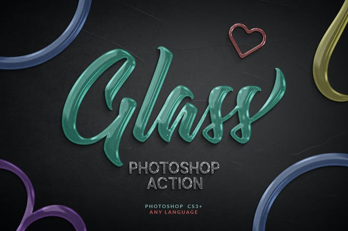Thumbnail for Glass Photoshop Action