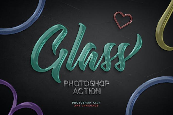 Thumbnail for Acción de Photoshop de vidrio