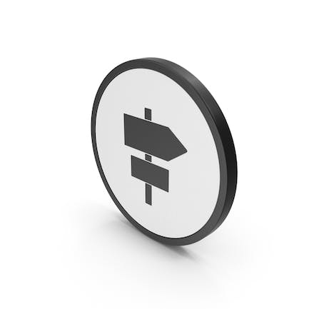 Icon Road Sign Post
