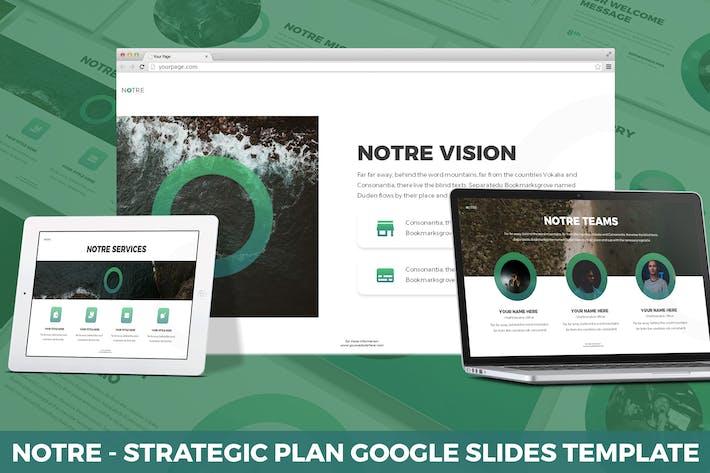 Thumbnail for Notre - Strategic Plan Google Slides Template