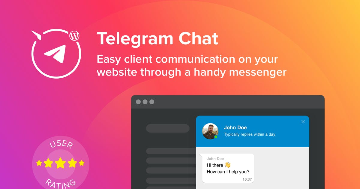 Download WordPress Telegram Chat Plugin by Elfsight